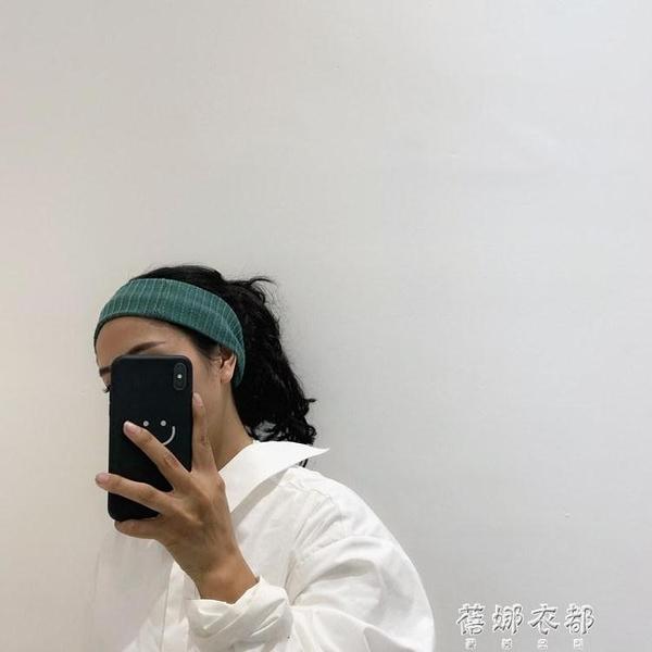 髮帶Greenhouses韓系少女純色新款個性發飾毛線針織發帶發箍發繩 蓓娜衣都