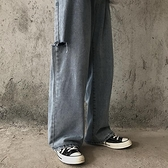 2020年秋季新款韓版ins破洞拖地牛仔褲女直筒寬鬆bf風寬管褲春秋 米娜小鋪