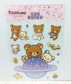 【震撼精品百貨】Rilakkuma San-X 拉拉熊懶懶熊~貼紙-月球#19927