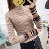 毛衣加厚女冬秋裝新品短款百搭修身套頭半高領針織打底衫內搭線衣