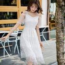 98788-QF #蕾絲 #洋裝 #中大碼 #中尺碼 #宴會 #小禮服 #約會 #中長裙 #婚禮