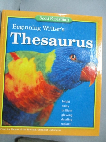 【書寶二手書T2/語言學習_E8W】Beginning Writer s Thesaurus_Scott Foresma