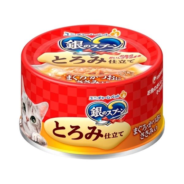 銀湯匙  貓罐頭  濃郁鮪魚鰹魚雞胸肉  70g
