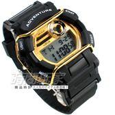Lotus 大錶面 防撞運動休閒錶 多功能電子錶 男錶 TP1352M-04黑金
