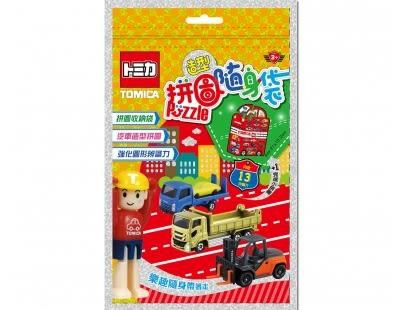 多美小汽車 造型拼圖隨身袋 TM003A 根華 (購潮8) TOMICA