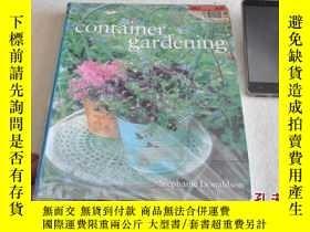 二手書博民逛書店原版畫冊,盆景藝術,container罕見gardeningY1