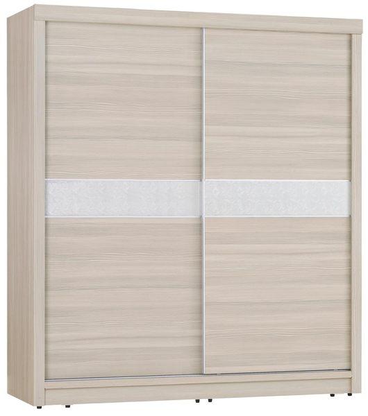 【森可家居】詹姆士香檳松7x7尺衣櫃 7JX31-8 衣櫃 左右推拉門 木紋質感 無印北歐風