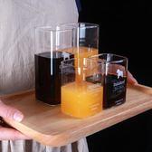 聖誕回饋 家用ins風情侶水杯韓版創意潮流玻璃日式可愛簡約個性果汁杯