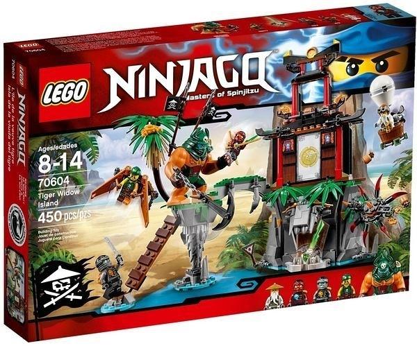 70604【LEGO 樂高積木】旋風忍者系列 Ninjago -大戰虎寡婦蜘蛛島 Tiger Widow Island