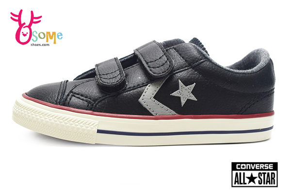 Converse帆布鞋 小童款 Star Player EV 2V系列 魔鬼氈 帆布鞋H9869#黑色◆OSOME奧森鞋業