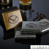 新年禮物-雙槍復古創意自動便攜煙盒20支裝-艾尚精品 艾尚精品