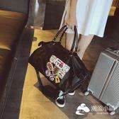 運動包-防水牛津紡手提旅行袋登機包出差包徽章男士健身包女士瑜伽包大包-潮流小鋪