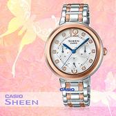 CASIO 卡西歐 手錶專賣店 SHE-3048BSG-7A 女錶 不鏽鋼錶帶 防水 玫瑰金  三眼 日期星期24制