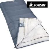 丹大戶外【KAZMI】可拼接保暖睡袋(灰色) K7T3M002 登山活動/保暖透氣/吸濕速乾