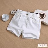 女童牛仔短褲夏季新款韓版中大童兒童白色外穿百搭寬鬆熱褲子 店慶降價