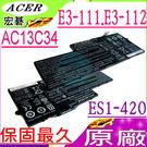 ACER AC13C34 電池(原廠)-宏碁 E-11,E3-111,E3-112,ES1-111,ES1-420,ES1,ES1-111-C0A7,ES1-111-C138, 3UF426080-1