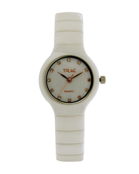 TRUeE 瑞時寶嘉 TS150292 純白陶瓷腕錶 (白)/26mm