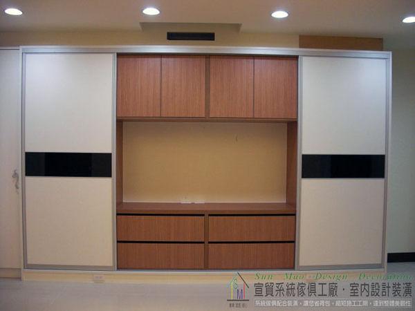 系統家具/系統櫃/木工裝潢/平釘天花板/造型天花板/工廠直營/系統家具價格/系統拉門衣櫃-sm0608