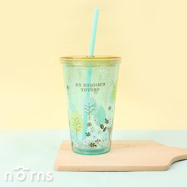 日貨平蓋雙層吸管杯豆豆龍森林500ml- 日本進口 KS3ST 飲料杯 水杯 宮崎駿 吉卜力 龍貓
