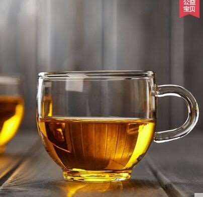 功夫茶杯 90毫升 加厚耐高溫透明 M-111帶把玻璃茶杯