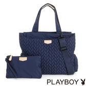 PLAYBOY- 多WAY肩背包 輕量空氣包系列-午夜藍