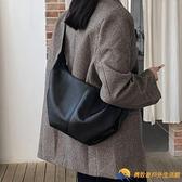 包包女大容量餃子包軟皮托特包百搭單肩包斜挎包【勇敢者】