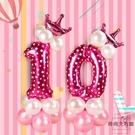 寶寶周歲數字氣球裝飾路引兒童生日派對布置氣球立柱【時尚大衣櫥】