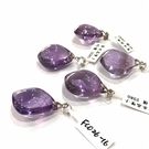『晶鑽水晶』天然巴西紫水晶墜子 約26mm 大顆 超透亮 色澤形狀超飽滿 加強記憶力 智慧 附鍊子