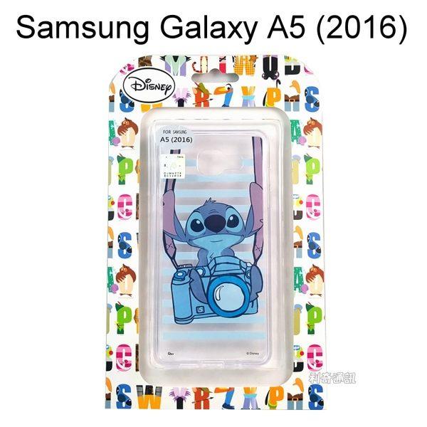 迪士尼透明軟殼 [相機] 史迪奇 Samsung A510Y Galaxy A5 (2016)【Disney正版授權】