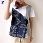 【春夏新品】American Bluedeer - 菱形拼接上衣 二色 春夏新款
