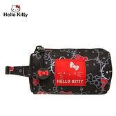 【橘子包包館】Hello Kitty 繽紛凱蒂-圓筒零錢包-黑 KT01V06BK 零錢包