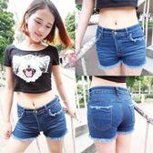 韓版時尚夏季爆款磨邊磨荷包顯瘦牛仔短褲  東川崎町
