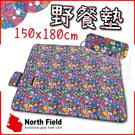 【美國 North Field 加厚防水野餐墊(150×180cm)《歡樂熊》】8SG013/遊戲墊/防潮墊/帳棚地席