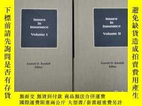 二手書博民逛書店Issues罕見in Insurance volume I vo