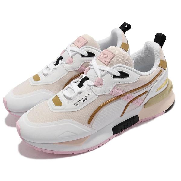 Puma 休閒鞋 Mirage Tech 白 粉紅 金 女鞋 運動鞋 蔡依林 Jolin 【ACS】 381118-16