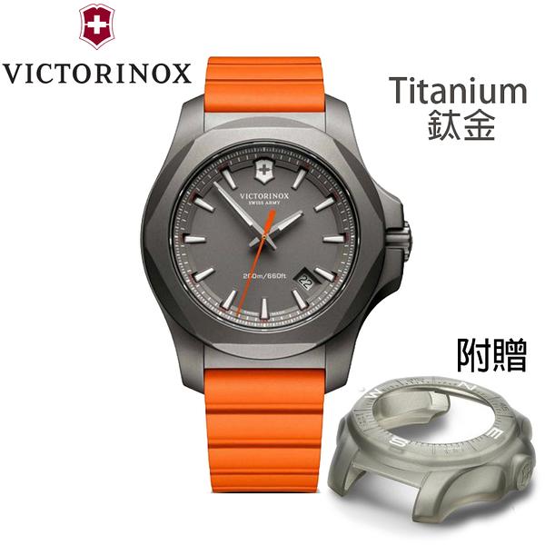 【萬年鐘錶】瑞士VICTORINOX 維氏  I.N.O.X.  Titanium 鈦金屬 潛水錶 灰色錶面 VISA-24178