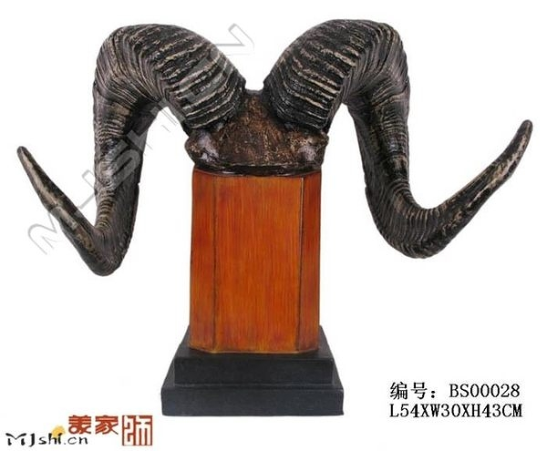 泰國佛像/動物風情裝飾/歐式居家工藝飾品/牛角