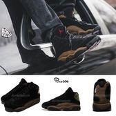 【六折特賣】 Nike Air Jordan 13 Retro Olive 黑 咖啡 男鞋 喬丹 13代 【PUMP306】 414571-006