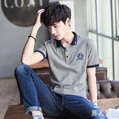中大尺碼短袖Polo衫 夏裝帶領有領男士t恤翻領韓版修身大碼體恤半袖上衣服 FR9653『男人範』
