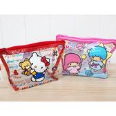 Hello Kitty/雙子星 透明化妝包(1入) 兩款可選【小三美日】