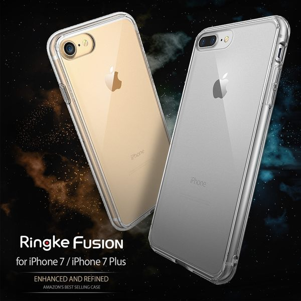 【贈指環支架】REARTH 韓國 Ringke Fusion iPhone 8 7 Plus 5.5吋 透明背蓋手機殼 保護殼 內建吊繩孔位 i7 i8