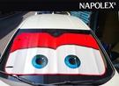【現貨】日本NAPOLEX 迪士尼 閃電麥坤 紅色版 汽車前遮陽擋 段熱 隔熱 降溫 扎實結構 鋁箔段熱