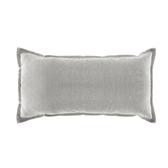HOLA 新素色織紋抱枕30x60cm 銀灰色