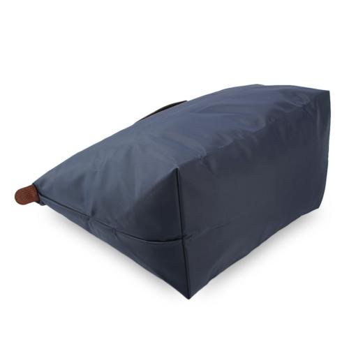 LONGCHAMP經典短提把中型尼龍摺疊水餃包(深藍色)480101-32
