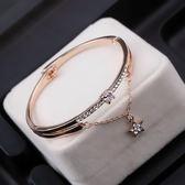 歐美水鑚幸運五角星水晶手鐲環手錬女飾品