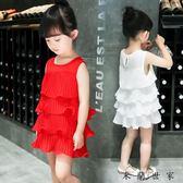 女童連身裙公主裙雪紡寶寶裙子