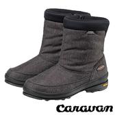 【日本 Caravan】SHC31W女短筒防水保暖雪鞋 黑 0023131 雪靴│輕量.雪鞋.雪靴 (內厚鋪毛)
