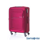 Samsonite 新秀麗 24吋 POPULITE 四輪 TSA超輕量可擴充布面行李箱(紅)