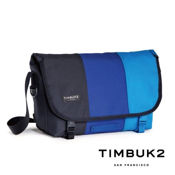 TIMBUK2 - 經典郵差包 平板包 M號 CLASSIC MESSENGER - 藍色拼接