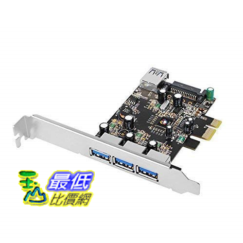 [8美國直購] SIIG USB3.0擴充卡 Legacy & Beyond JU-P40611-S2 Superspeed DP 4 Ports PCI-e to USB 3.0